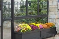 Windbreak System ANEMOS with wheeled jardiniere