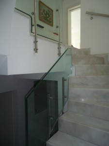 triplex staircase glass